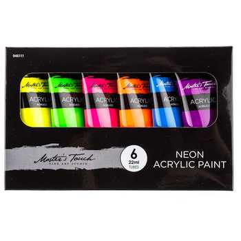 Master's Touch Neon Paints from Hobby Lobby