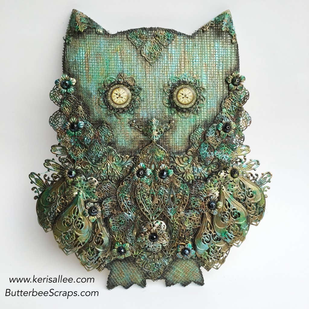 Steampunk Owl for Butterbee Scraps by Keri Sallee