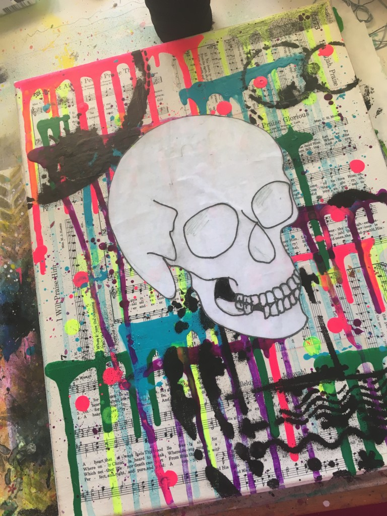 Minimal Skull Sketch-Free Printable