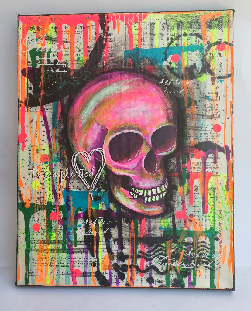 Hymnal Skull Canvas