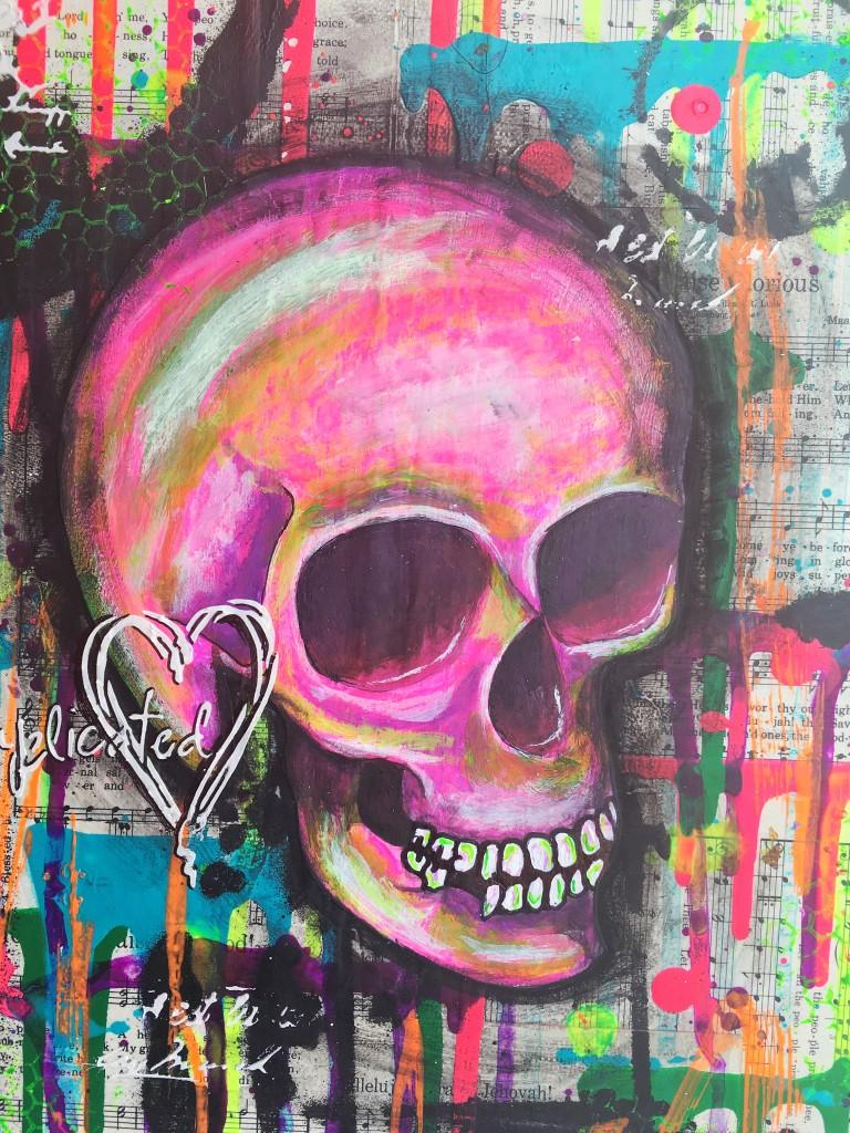 Mixed Media Skull