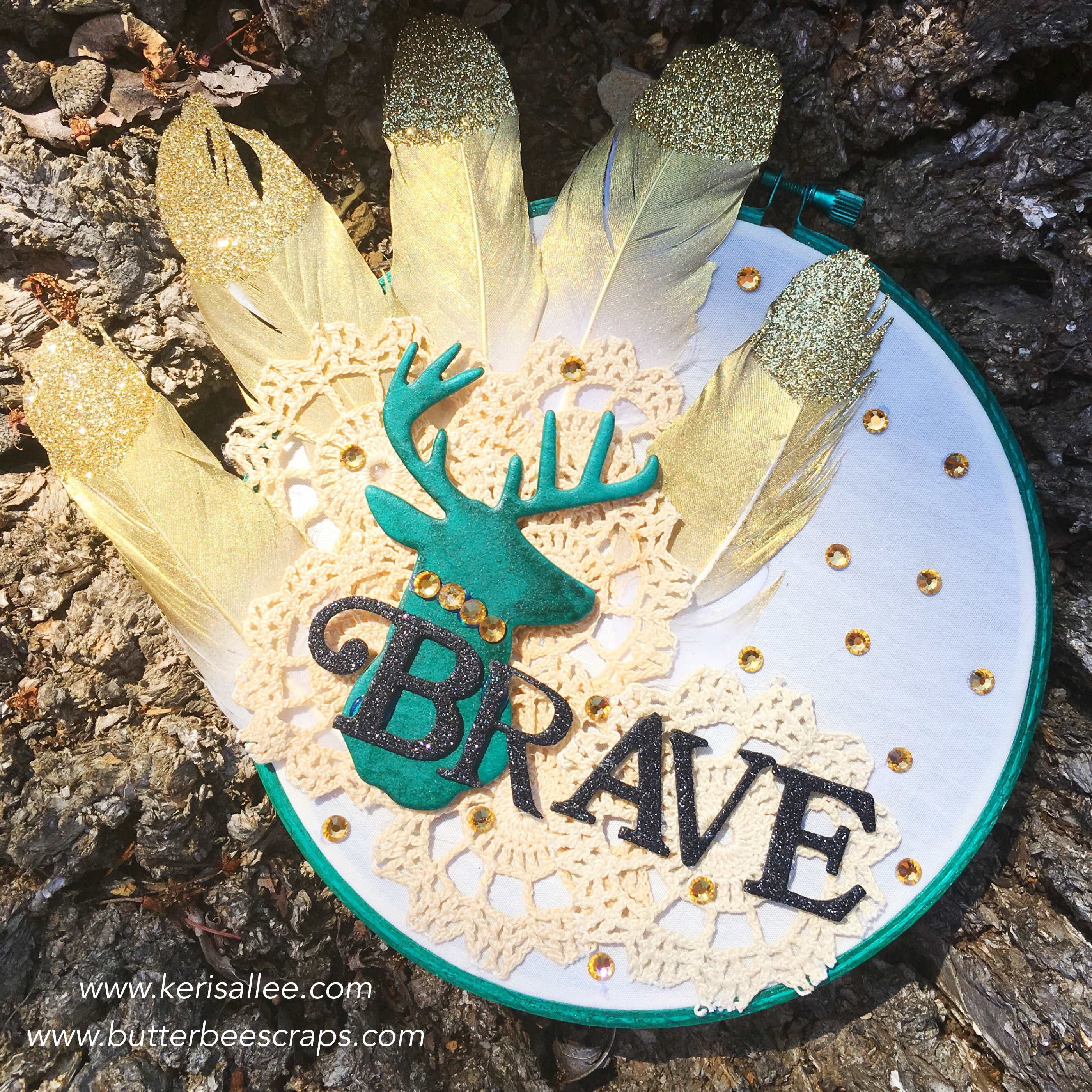 Butterbee Scraps Brave Hoop-finished