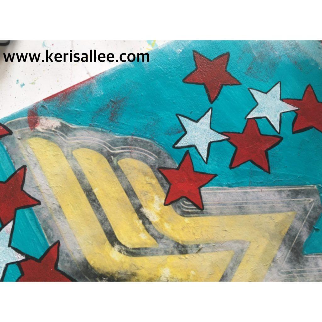Star Stencil Wonder Woman