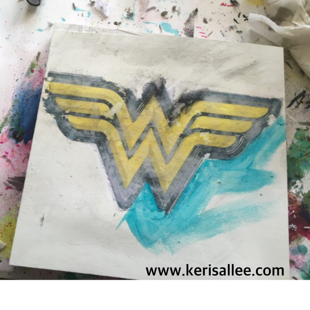 Wonder Woman Mixed Media piece
