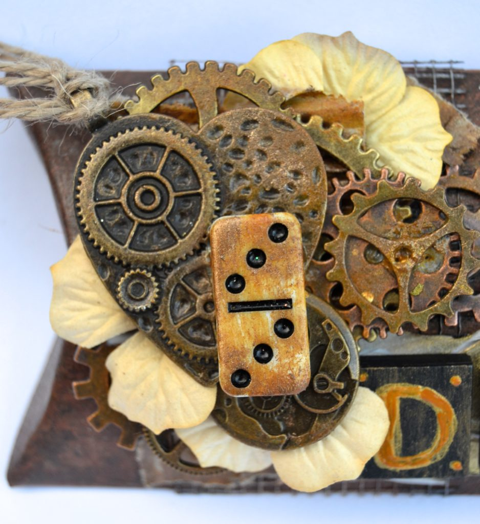 Butterbee Scraps_Prima_DecoArt_Gel Press_leather tutorial
