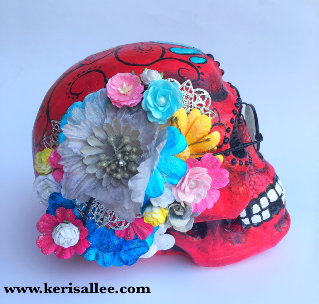 Marion Smith Prima Flowers Skull