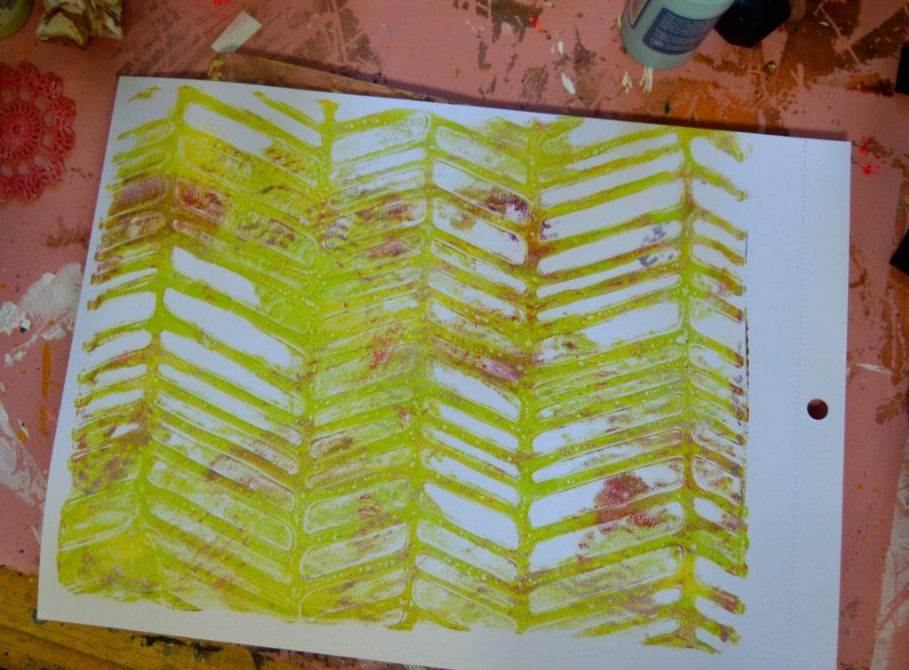 Gel Press  DecoArt Gel Print