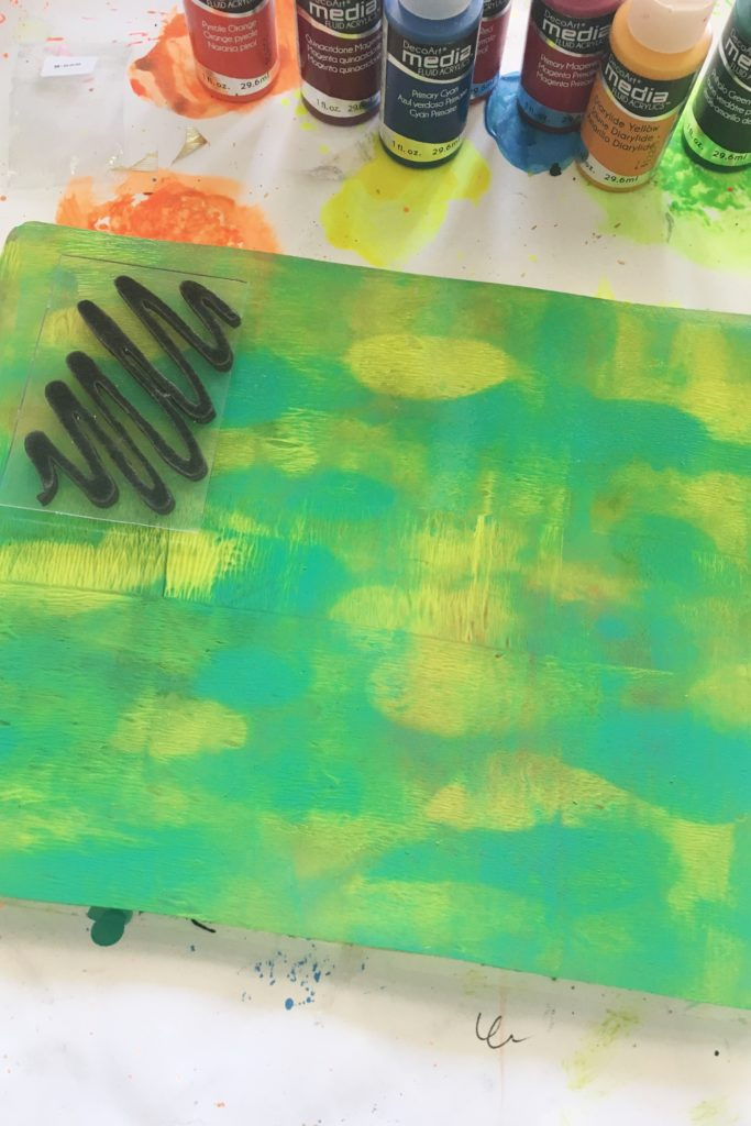 DecoArt Fluid Acrylics and Gel Press