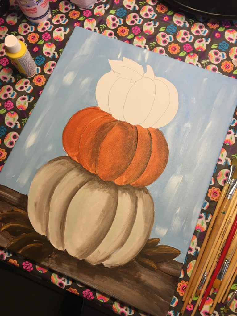"Social Artworking ""Stacked Pumpkin"""
