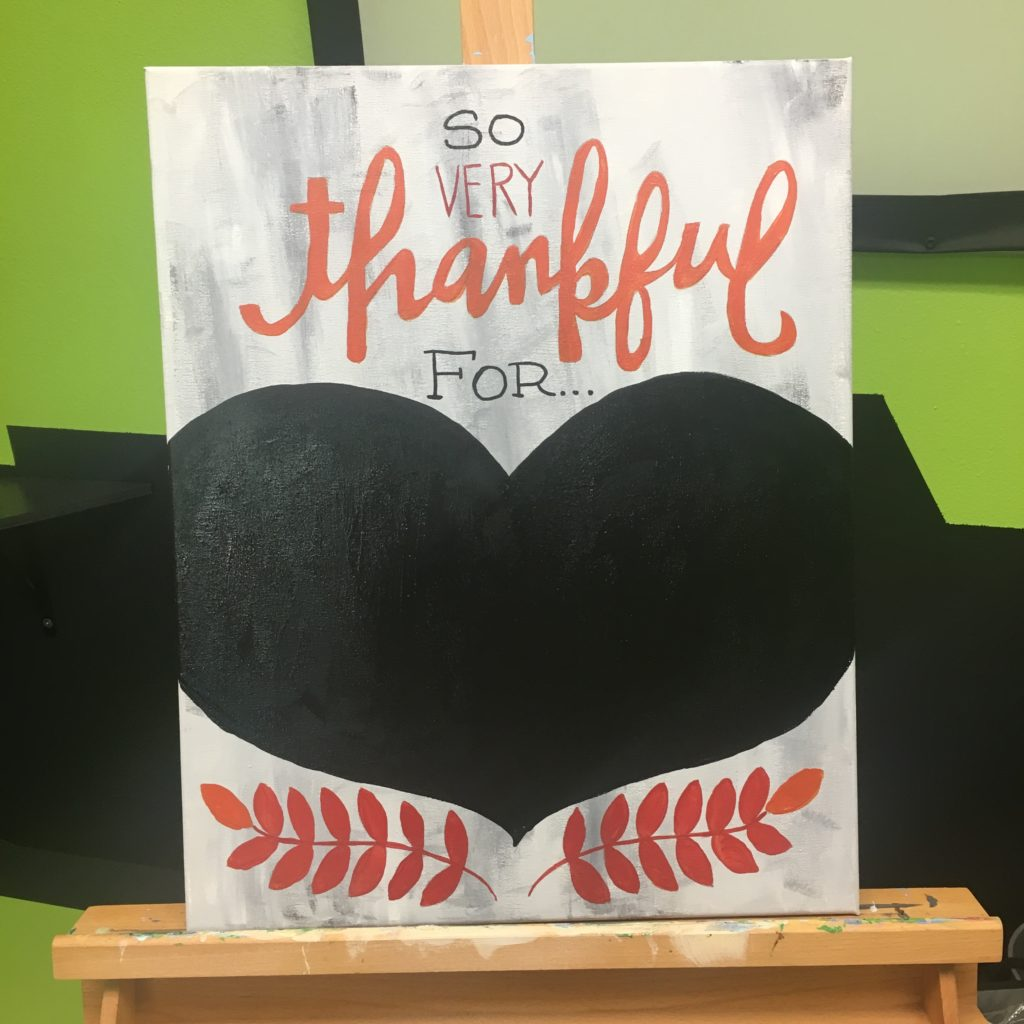 Social Artworking Thankful Chalkboard Canvas