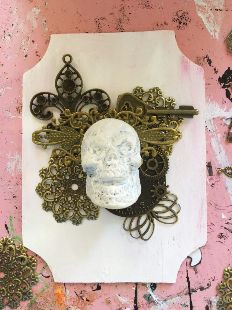 Butterbee Scraps Skull Collage