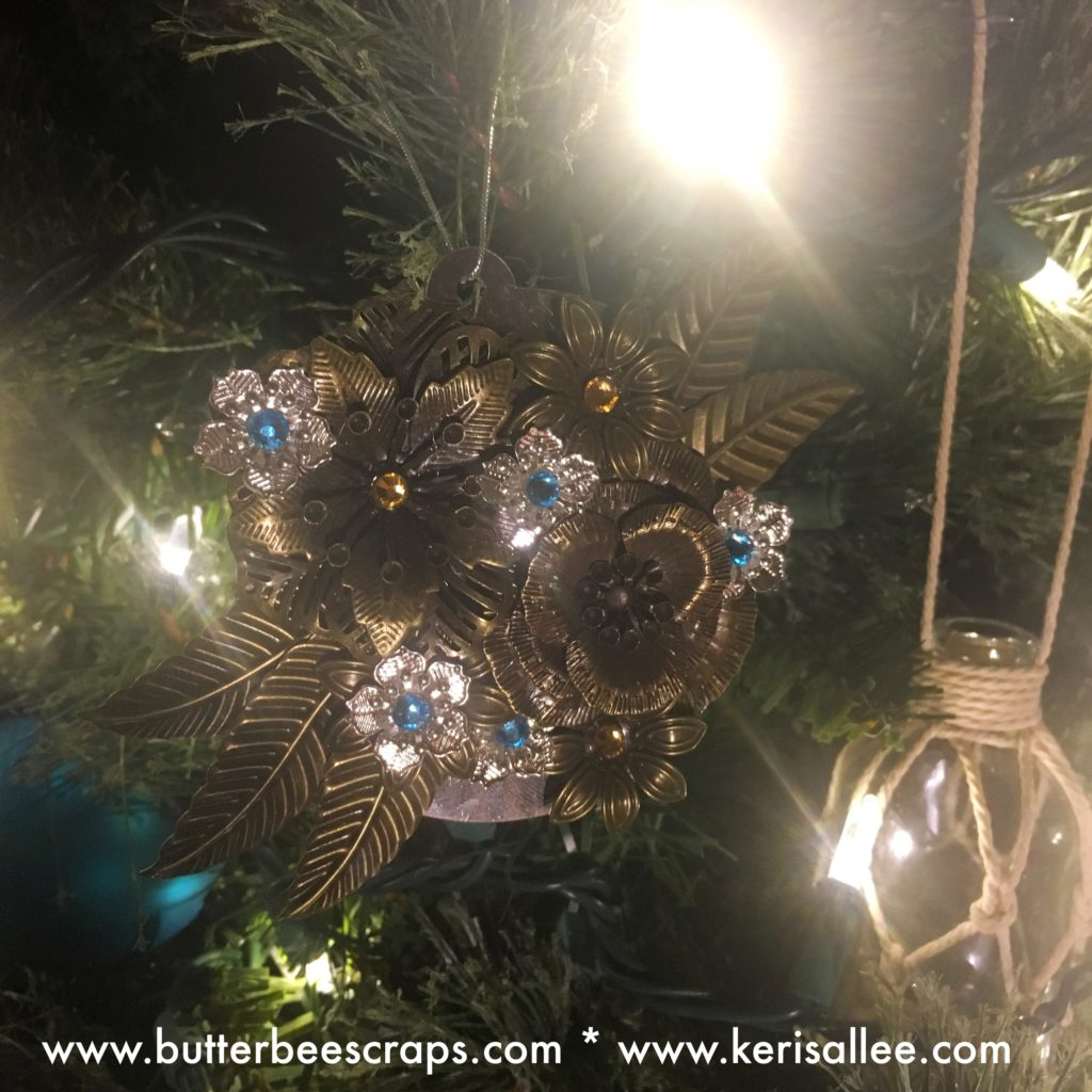recycled ornament featuring Butterbee Scraps